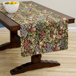 None - Extra Wide Italian Woven 95x26-inch Table Runner - Add a touch of elegance to your table with this runner. An extra-wide design complete this versatile runner.