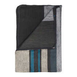 Shupaca - Onyx Blanket/Throw - Have you ever spent a summer at the shore? Curl up under this luxurious blanket in storm hues of cobalt, teal and charcoal, and picture yourself at a beach house overlooking the Atlantic Ocean, sipping coffee while you watch the clouds drift across the horizon.