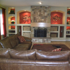 Family Room by Carol Mickey Designs, Inc.
