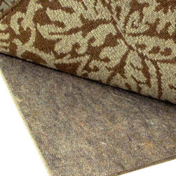 "Rug Pad Corner - Superior 3/8"" Thick Felt Rug Pad, 3x5 - Guaranteed 100% Natural containing only recycled pre-consumer fibers"