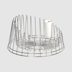 ALESSI Dish Rack - This is the first dish rack I have ever found where I can honestly say is an accessory. If you have a small kitchen with no dishwasher, this is a great way to have an eye catching accessory that's also functional. For some reason it reminds me of big indoor stadium domes without their dome. It's so important that something that has to sit out on your counter all the time doesn't detract from your design. It's a win.
