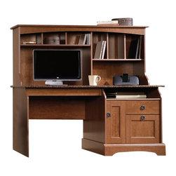Sauder - Sauder Graham Hill Computer Desk with Hutch in Autumn Maple Finish - Sauder - Computer Desks - 408951