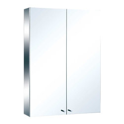 Renovators Supply - Medicine Cabinets Bright Stainless Steel Medicine Cabinet 31 1/2' | 13525 - Bathroom cabinets with mirrors. Maximize storage in style, this exquisite medicine cabinet is 100% stainless steel inside and out. The perfect investment for any bathroom. Measures: 31 1/2 inch H x 23 5/8 inch W x 5 3/8 inch projection.