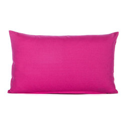 "Blooming Home Decor - Solid Hot Pink Accent / Throw Pillow Cover - (Available in 16""x16"", 18""x18"", 20""x20"", 24""x24"", 26""x26"", 12""x20"")"