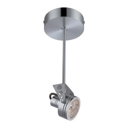 Lite Source - 17141 Elaxi 1 Light Semi Flush Mounted Accent Spot Light - Looking for the perfect lamp for an industrial modern themed room? Look no further than this stunning aluminum ceiling lamp from Lite Source.
