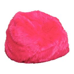 Great Deal Furniture - Abbey Neon Fur Kids Bean Bag, Neon Pink - The Abbey bean bag provides you with a comfortable seat for any room. The puncture-proof cover is durable for anyone with a combination of long-lasting polystyrene beans as well as soft and supple foam.