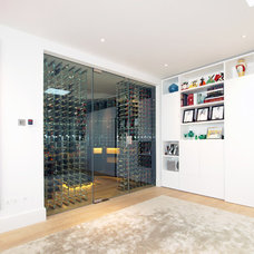 Contemporary Wine Cellar by Maxwell & Company Architects