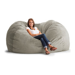 """Comfort Research - Fuf Extra Extra Large Bean Bag Sofa - This is the chair that brought bean bags out of the 1970s and into the bedrooms and dorm rooms all over the world. The first one to use patented memory foam, the Fuf is one-of-a-kind. Spend five minutes on a Fuf and your body will thank you for it! Features: -Covered in soft and durable fabric.-Re-Fuf again and again for custom comfort.-Spot clean.-Great for bedroom, dorm room or even the family room.-Made in the USA.-Constructed of suede.-Collection: Fuf.-Distressed: No.-Material: Fill: 100% polyurethane foam.-Stain Resistant: No.-Fill Included: Yes -Fill Material: 100% polyurethane foam.-Pre-Filled: Yes..-Refillable: Yes.-Removable Cover: Yes.-Zipper Closure: Yes.-Childproof Closure: Yes.-Recommended Age: All ages.-Seating Capacity: 2.-Product Care: Spot clean.-Country of Manufacture: United States.Dimensions: -Overall Height - Top to Bottom: 40"""".-Overall Width - Side to Side: 60"""".-Overall Depth - Front to Back: 84"""".-Overall Product Weight: 75 lbs.Assembly: -Assembly Required: No.Warranty: -Manufacturer provides 30 day repair or replace warranty against manufacturing defects."""