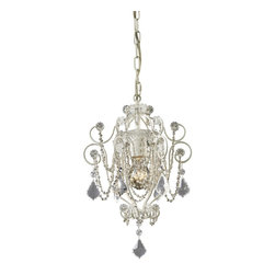 Elk Lighting - Elk Lighting ELK-12017-1 Elise Classic Crystal Candle Chandelier - These petite Chandelier offer a waterfall of Crystal Accents to add a touch of class to intimate spaces.
