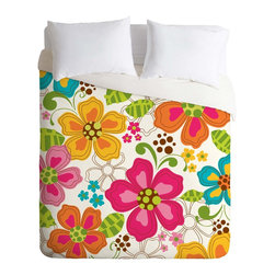 DENY Designs - DENY Designs Khristian A Howell Kaui Blooms Duvet Cover - Lightweight - Turn your basic, boring down comforter into the super stylish focal point of your bedroom. Our Lightweight Duvet is made from an ultra soft, lightweight woven polyester, ivory-colored top with a 100% polyester, ivory-colored bottom. They include a hidden zipper with interior corner ties to secure your comforter. It is comfy, fade-resistant, machine washable and custom printed for each and every customer. If you're looking for a heavier duvet option, be sure to check out our Luxe Duvets!
