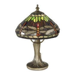 """Dale Tiffany - Dale Tiffany 7601/521 11"""" Dragonfly Table Lamp with Candelabra Base and 1 Light - Dale Tiffany 7601/521 11"""" Dragonfly Table Lamp with Candelabra Base and 1 LightCreate a classy style in your home with this beautiful 11"""" Dragonfly Table Lamp with Candelabra Base and 1 Light. This Table Lamp is a great choice to increase the light in your room with style.Dale Tiffany 7601/521 Features:"""