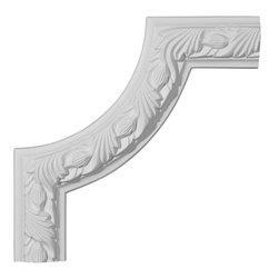 """Ekena Millwork - 10""""W x 10""""H Milton Running Leaf Panel Moulding Corner - 10""""W x 10""""H Milton Running Leaf Panel Moulding Corner. Our beautiful panel moulding and corners add a decorative, historic, feel to walls, ceilings, and furniture pieces. They are made from a high density urethane which gives each piece the unique details that mimic that of traditional plaster and wood designs, but at a fraction of the weight. This means a simple and easy installation for you. The best part is you can make your own shapes and sizes by simply cutting the moulding piece down to size, and then butting them up to the decorative corners. These are also commonly used for an inexpensive wainscot look."""