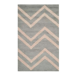 Safavieh - Tearlach Hand Tufted Rug, Grey / Beige 3' X 5' - Construction Method: Hand Tufted. Country of Origin: India. Care Instructions: Vacuum Regularly To Prevent Dust And Crumbs From Settling Into The Roots Of The Fibers. Avoid Direct And Continuous Exposure To Sunlight. Use Rug Protectors Under The Legs Of Heavy Furniture To Avoid Flattening Piles. Do Not Pull Loose Ends; Clip Them With Scissors To Remove. Turn Carpet Occasionally To Equalize Wear. Remove Spills Immediately. Bring classic style to your bedroom, living room, or home office with a richly-dimensional Safavieh Cambridge Rug. Artfully hand-tufted, these plush wool area rugs are crafted with plush and loop textures to highlight timeless motifs updated for today's homes in fashion colors.