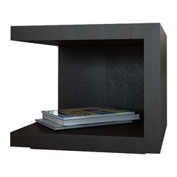 Modloft - Modloft Ludlow Nightstand - MD317-NS - Walnut [Set of 2] - Cotemporary Nightstand in Walnut or Wenge belongs to Ludlow Collection from LOFT Series by Modloft The Ludlow cube nightstand features floor and top shelf levels for convenient storage and display. Versatile cubes can also be used as living room end tables and can be turned in multiple directions to create unique arrangements. Available in wenge wood finish. Hardwood construction. Nightstand (2)