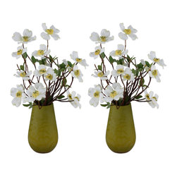 "60000 Dogwoods of Spring, Set/2 by Uttermost - Get 10% discount on your first order. Coupon code: ""houzz"". Order today."