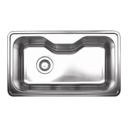 Whitehaus - Whitehaus Whnda3016 Kitchen Sink - Full undercoat over sound deadening pads