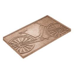 Bungalow Flooring - Aqua Shield 2'x3' Bicycle Mat, Medium Brown - Premium 24-oz. anti-static polypropylene mat traps dirt, water and mud