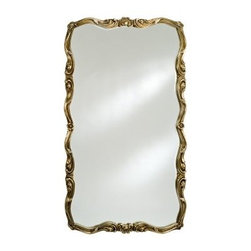 Timeless Tradition Oversized Full Length Wall Mirror - 36W x 60H in. - Create space while adding an illuminating reflection upon any room with the Timeless Tradition Oversized Wall / Leaning Floor Mirror. This ornate rectangular mirror offers a generous size and is designed to be hung either vertically or horizontally on larger walls. For smaller spaces it works perfectly as a floor leaning mirror that opens up any room. It features a beveled edge mirror and an ornately embellished wood frame in your choice of antique white antique gold or antique silver finishes.About AfinaAfina Corporation is a manufacturer and importer of fine bath cabinetry lighting fixtures and decorative wall mirrors. Afina products are available in an extensive palette of colors and decorative styles to reflect the trends of a new millennium. Based in Paterson N.J. Afina is committed to providing fine products that will be an integral part of your unique bath environment.