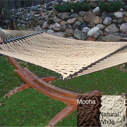 Phat Tommy - PHAT TOMMY Soft Wide Hand-Woven Hammock - This top of the line hammock is made with thick hand-woven, braided soft polyester rope and is strong enough to hold 400 pounds. This hammock requires no assembly and is easy to hang.