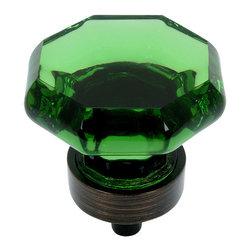 Cosmas - Cosmas 5268ORB-EM Oil Rubbed Bronze & Emerald Glass Cabinet Knob - Manufacturer: Cosmas