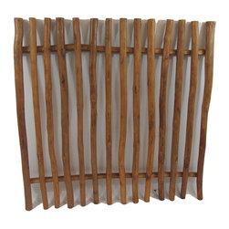 "Master Garden Products - Teak Wood Picket Fence - Solid teak wood pole fences in an all-American traditional picket style design. The panel come knocked down, easy assembly with pre-drilled holes. Teak poles are about 1.5"" to 2"" in diameter, height is 48"" and 48"" long. Excellent for home, and commercial establishments such as safaris, resorts, theme parks and more."