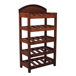 20 Bottle Indian Rosewood Wine & Liquor Rack - You no longer need a mansion or wine cellar to store fine wine. Our 20-Bottle solid hardwood rack stores up to 20 bottles at a tilt.