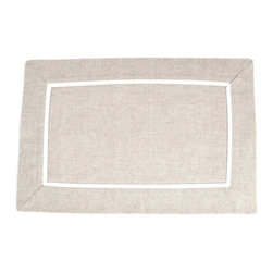 Saro - Pleated Placemat, Natural SET/4 - Pleated Placemat, Natural SET/4
