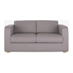 Porto 2 Seat Sofa Bed, Grey Fabric