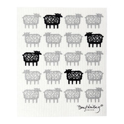 Klippan Textiles - Swedish Dishcloth Sheep - THE SWEDISH ECO-FRIENDLY DISHCLOTH: The dry sponge cloth was invented in 1949 by the Swedish engineer Curt Lindquist, who discovered that a mixture of natural cellulose (wood pulp) and cotton can absorb an incredible 15 times its own weight in water.