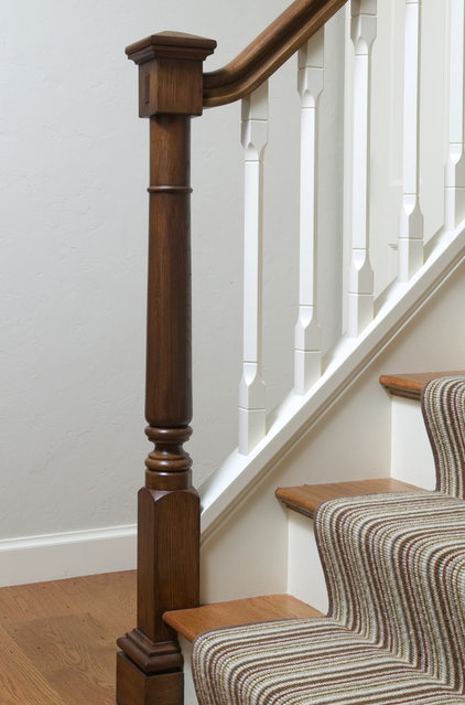Traditional Staircase by Frank Shirley Architects
