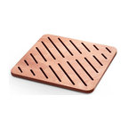 WS Bath Collections - 19.7 in. Square Shower Mat in Marine Plywood - Modern/contemporary design. Water Resistant. For Use Inside or Outside of Shower. Designer High End Quality. Warranty: One year. Made from solid okume wood. Made by Lineabeta of Italy. No assembly required. 19.7 in. L x 19.7 in. W x 0.8 in. H (7 lbs.). Spec SheetUnique and fine bath accessories and complements, that provide inspirational solutions for every decor.