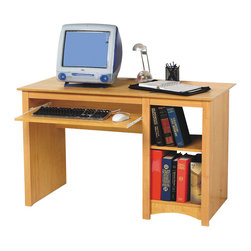Prepac - Prepac Sonoma Maple 48 Inch Computer Desk - Every office needs a computer desk, so why compromise on value or features? This desk includes a roll-out keyboard tray and a bottom compartment designed to store your computer tower, freeing up your workspace. An adjustable shelf above the CPU compartment offers additional space for books, office supplies and anything else you need on-hand. Solidly designed with minimalist lines, this desk fits both your dicor and your budget.