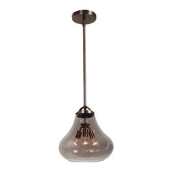 Access Lighting - Access Lighting 55547 in Dark Bronze with SMK Glass Vintage Lamped Chandelier - Vintage-style Lamped Chandelier