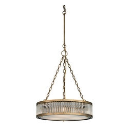 Elk Lighting - Elk Lighting Linden Collection 3 Light Pendant In Aged Brass - 46125/3 - 3 Light Pendant In Aged Brass - 46125/3 in the Linden collection by Elk Lighting The Linden collection features a drum shape made from a textural wall of metal or crystal.  A frosted glass diffuser (metal tube items) or textured clear glass (crystal items) is cleverly recessed into the drum for a smooth, seamless appearance. Various finishes, including Polished Nickel, Brushed Nickel, Aged Brass and Oil Rubbed Bronze are adaptable into any color scheme.  Pendant (1)