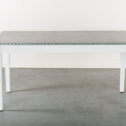Zinc Dining Tables, Coffee Table, Tops, Countertops - Custom Sizes Available. Visit www.kingstonkrafts.com