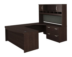 Bush - Bush Series C 4-Piece U-Shape Right-Hand Computer Desk in Mocha Cherry - Bush - Office Sets - WC12946PKG2 - Bush Series C 2 Drawer Lateral Wood File Cabinet in Mocha Cherry (included quantity: 1) Safe, secure and generous, the Bush Advantage Series C Two Drawer Lateral File Cabinet features a hefty size and a simple, neutral style. This luxury lateral filing cabinet is a bold and efficient addition to any executive suite. Features:
