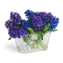 Hyacynth In Vase Blue/Purple Flower Arrangement