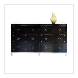 Worlds Away - Worlds Away Studly Dresser in Black Lacquer. - Worlds Away Studly Dresser in Black Lacquer.