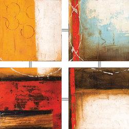 "Coaster - Coffee Shop 4-Panel Wall Art - Coffee Shop 4-Panel Wall Art; Dimensions: 32.00""L x 32.00""W"
