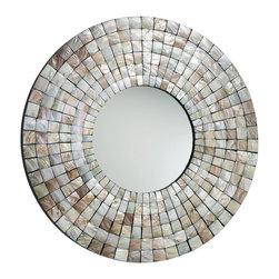 Cyan Design - Cyan Design 02798 Mosaic Tile Round Mirror - Cyan Design 02798 Mosaic Tile Round Mirror
