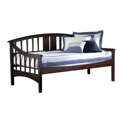 Hillsdale - Alexander Daybed in Deep Brown Finish - Includes side and back panels, rails and slats. Mattress not included. Composed of solid woods and climate controlled wood composites. Side: 45 in. L x 39 in. H. Back: 86 in. L x 42.75 in. HPerfect for a guest room or kids room.