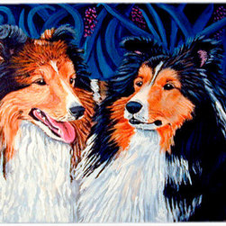 Caroline's Treasures - Sheltie Kitchen or Bath Mat 24x36 - Kitchen or Bath COMFORT FLOOR MAT This mat is 24 inch by 36 inch.  Comfort Mat / Carpet / Rug that is Made and Printed in the USA. A foam cushion is attached to the bottom of the mat for comfort when standing. The mat has been permenantly dyed for moderate traffic. Durable and fade resistant. The back of the mat is rubber backed to keep the mat from slipping on a smooth floor. Use pressure and water from garden hose or power washer to clean the mat.  Vacuuming only with the hard wood floor setting, as to not pull up the knap of the felt.   Avoid soap or cleaner that produces suds when cleaning.  It will be difficult to get the suds out of the mat.