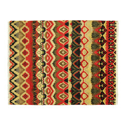 Manhattan Rugs - Modern Navajo Design 8' X 10' Hand Knotted Wool Oriental Area Rug S445 - This is a true hand knotted oriental rug. it is not hand tufted with backing, not hooked or machine made. our entire inventory is made of hand knotted rugs. (all we do is hand knotted)