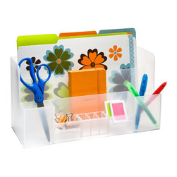 Large Desktop Station - Corral school supplies in a roomy and functional organizer that keeps homework tools at the ready.