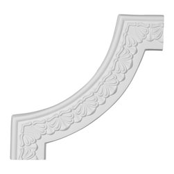 """Ekena Millwork - 10 7/8""""W x 10 7/8""""H Acanthus Leaf Panel Moulding Corner - 10 7/8""""W x 10 7/8""""H Acanthus Leaf Panel Moulding Corner. Our beautiful panel moulding and corners add a decorative, historic, feel to walls, ceilings, and furniture pieces. They are made from a high density urethane which gives each piece the unique details that mimic that of traditional plaster and wood designs, but at a fraction of the weight. This means a simple and easy installation for you. The best part is you can make your own shapes and sizes by simply cutting the moulding piece down to size, and then butting them up to the decorative corners. These are also commonly used for an inexpensive wainscot look."""