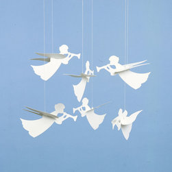 Flensted Mobiles - Angels with Trumpets Mobile - Angels with Trumpets Mobile