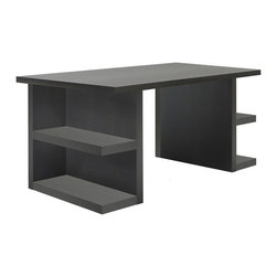 """Temahome - Multi 71"""" Table Top W/ Storage Legs, Wenge - Multi table truly lives up to its name. Apart from the multiple leg option, Multi also offers multiple finishes, creating many different ways to personalize this piece.  With the storage legs, the user gets extra storage space, since the structure doubles as a shelving unit, while the trestle legs bring a touch of contemporary design. Finally, to achieve the traditional table, there's square legs, a classic that never goes out of style."""