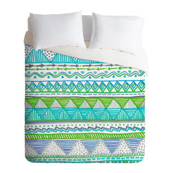 DENY Designs - Lisa Argyropoulos Ocean T 1 Queen Duvet Cover - Say bon voyage to bedroom blahs. Cool, refreshing colors and a charming print give this duvet cover uncommon flair and will make you feel like you're floating in a tranquil sea.