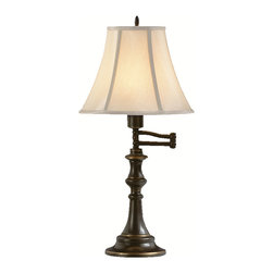 Kichler - Kichler 70406 Swing Arm Table Lamp 1Lt - Kichler 70406 Swing Arm Table Lamp 1Lt