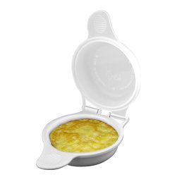 Trademark Global - 2 Microwave Egg Cooker by Chef Buddy - BUY ONE GET ONE FREE!!!!Now you don't need to spend time in the drive-thru line waiting for a breakfast sandwich! Make a healthier version at home in minutes with the Microwave Egg Cooker by Chef Buddy. Simply crack 1 or 2 eggs into the maker, then add sausage, bacon, ham or vegetables if you like. Cook in your microwave for 45 seconds. In less than the time it takes to toast an English muffin or bagel, you'll have a fully-cooked egg patty ready to be made into a delicious and nutritious breakfast sandwich. Great for kids and parents on-the-run and easy to use, too! Features include: #5 Polypropylene Plastic Construction Safe for You and the Environment Microwave Safe Holds Up to 2 Eggs Dimensions: 6.625 x 4.625 x 2.5 inches